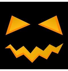 Halloween pumpkin face vector image