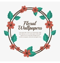 Floral wallpapers design isolated vector