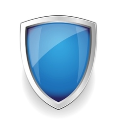 Blue empty shield vector image