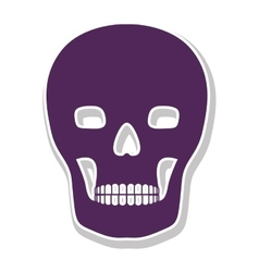 Skull with bones icon vector