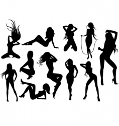 Stripper silhouettes vector