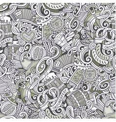 Cartoon cute doodles hand drawn octoberfest vector