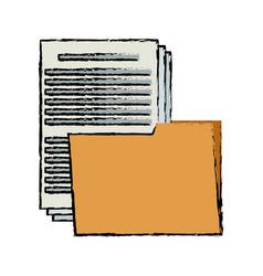 Folder file document paper office supply vector
