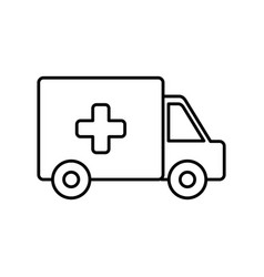 Ambulance icon imag vector