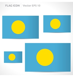 Palau flag template vector