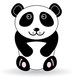 Funny panda on a white background vector