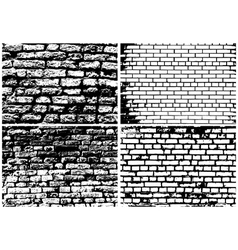 Set of abstract grunge brick wall vector