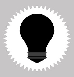 Bulb silhouette icon vector