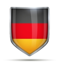 Shield with flag germany vector