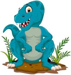 funny tyrannosaurus cartoon posing vector image