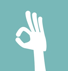 Finger sign ok vector