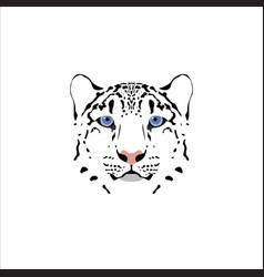 A snow leopard head vector