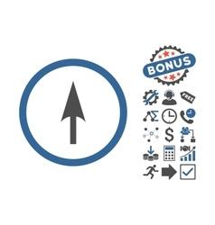 Arrow axis y flat icon with bonus vector