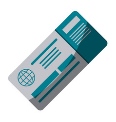boarding pass icon image vector image vector image