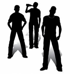 boys group vector image
