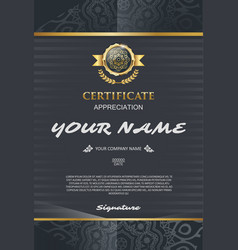 Certificate template elegant and stylish with vector