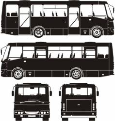 City bus silhouettes vector
