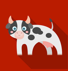 Cow single icon in flat stylecow symbol vector