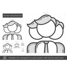 Human resources line icon vector image vector image