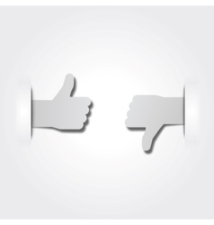 Like or dislike paper stickers vector