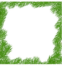 Natural square frame vector