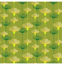 Pattern with yellowcup flowers vector