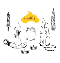 Set of candles vector image vector image