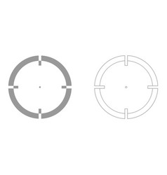 sight set icon vector image vector image