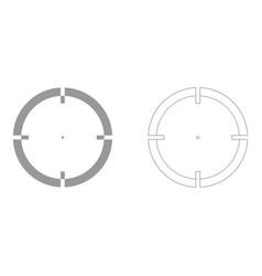Sight set icon vector