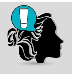silhouette cosmetic stylist icon vector image vector image
