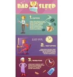 Sleep Man Infographic vector image
