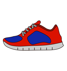 sneakers icon in flat style isolated on white vector image vector image