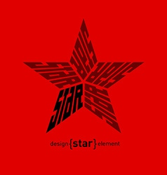 Star design element from words vector image vector image