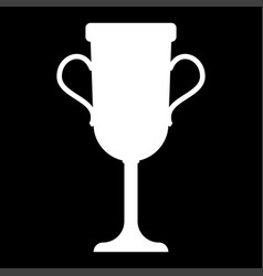trophy cup it is the white color icon vector image vector image