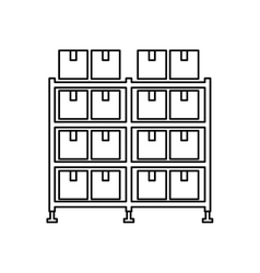 Warehouse case isolated icon vector