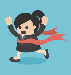 Woman business victory vector