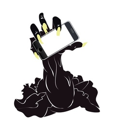 Zombie Hand with Phone2 vector image