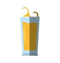 Glass cup drink splashing shadow vector