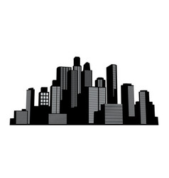 black cityscapes silhouettes buildings vector image