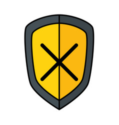 Shield safe secure icon vector