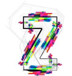 Colorful font letter z vector