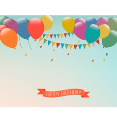 Retro holiday background with colorful balloons vector image
