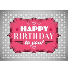 Happy birthday card typography letters font type vector
