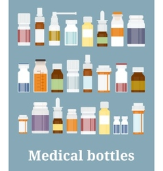 Medicine bottles collection vector