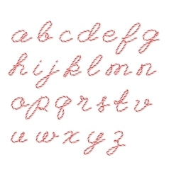Alphabet in bakers twine style vector