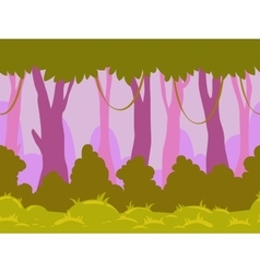 Cartoon flat seamless landscape vector