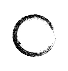 Circle grunge ink spot background vector