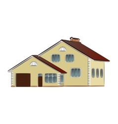 Two-storey private house vector