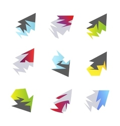 Abstract arrow elements vector image vector image