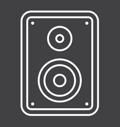 Audio monitor line icon sound and speaker vector